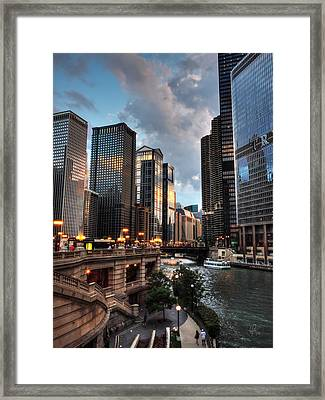 Chicago River - The Mag Mile 003 Framed Print by Lance Vaughn