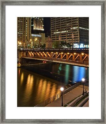 Chicago River Walk Framed Print by Frozen in Time Fine Art Photography