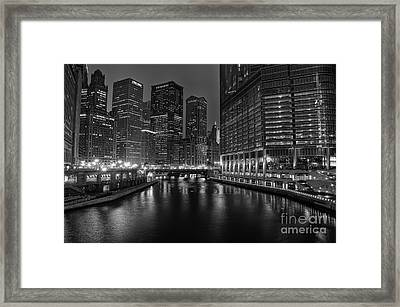 Chicago Riverwalk Framed Print by Eddie Yerkish
