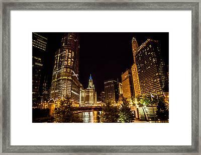 Chicago Riverwalk Framed Print by Melinda Ledsome