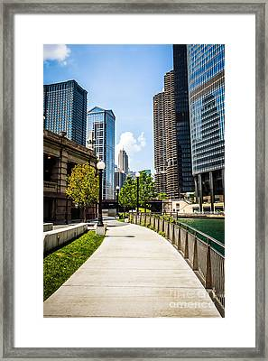 Chicago Riverwalk Picture Framed Print