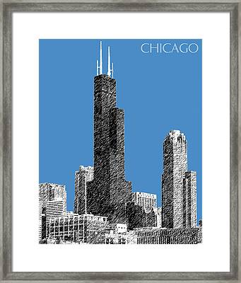 Chicago Sears Tower - Slate Framed Print