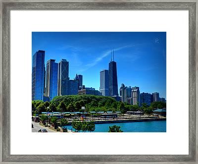 Chicago Skyline 002 Framed Print by Lance Vaughn