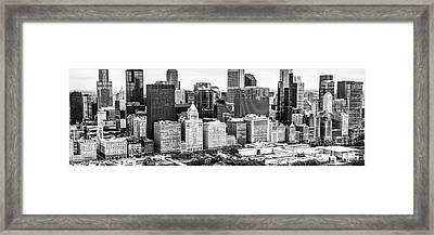 Chicago Skyline Aerial Panorama Photo Framed Print by Paul Velgos