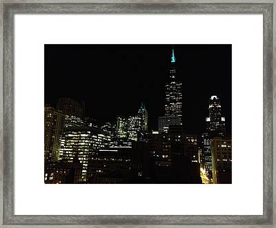 Framed Print featuring the photograph Chicago Skyline by Alan Lakin