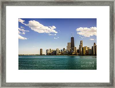 Chicago Skyline And Chicago Lakefront Framed Print by Paul Velgos