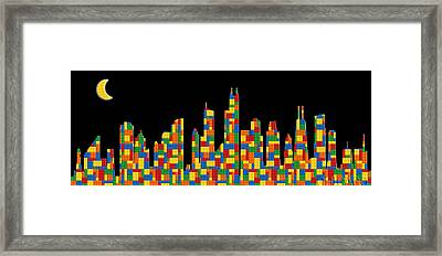 Chicago Skyline Framed Print by Andrew Fare