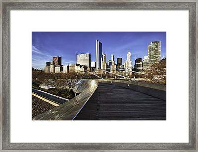Chicago Skyline At Sunrise Framed Print by Sebastian Musial
