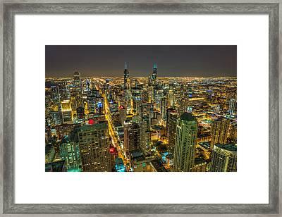 Chicago Skyline Framed Print by Chris Martin