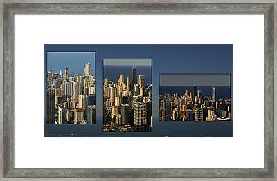 Chicago Skyline From Willis Tower Framed Print