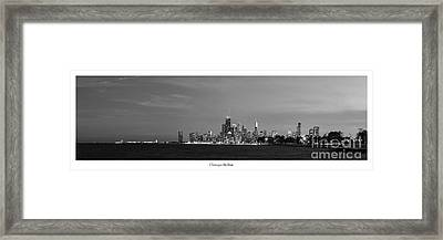 Chicago Skyline In Black And White Framed Print by Twenty Two North Photography