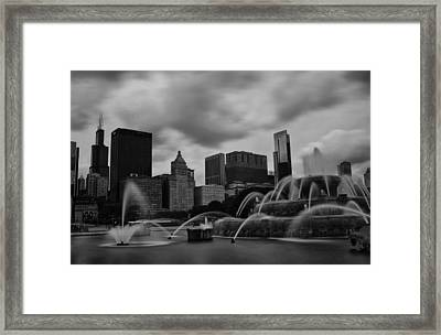 Framed Print featuring the photograph Chicago City Skyline by Miguel Winterpacht