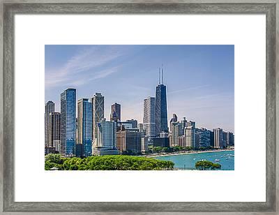 Chicago Skyline North View Framed Print