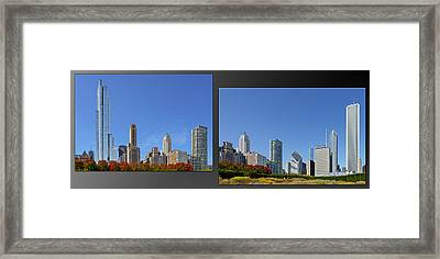 Chicago Skyline Of Superstructures Framed Print by Christine Till