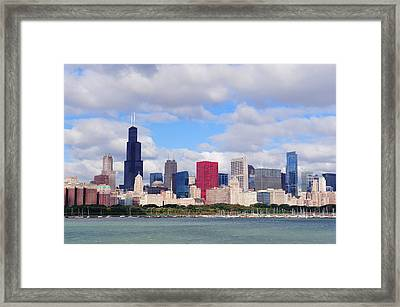 Chicago Skyline Over Lake Michigan Framed Print