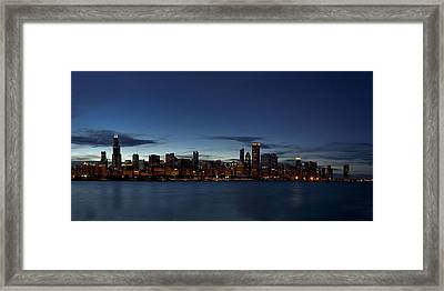 Chicago Skyline Panorama Framed Print by Andrew Soundarajan