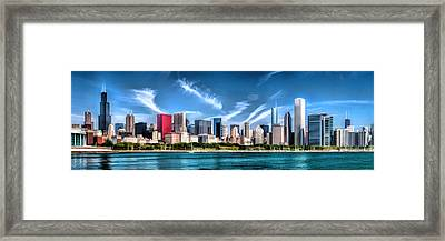 Chicago Skyline Panorama Framed Print