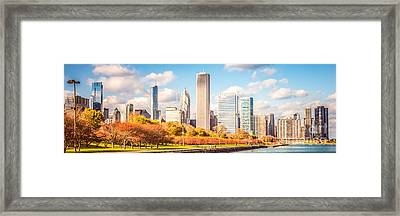 Chicago Skyline Panorama Photo Framed Print by Paul Velgos