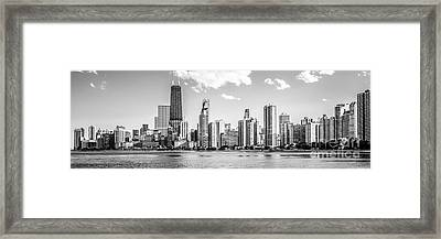 Chicago Skyline Panoramic Picture Of Gold Coast Framed Print by Paul Velgos