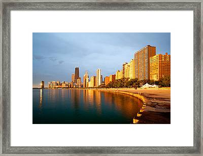 Chicago Skyline Framed Print by Sebastian Musial
