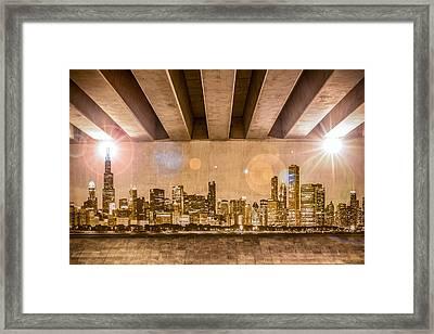 Chicago Skyline Framed Print by Semmick Photo