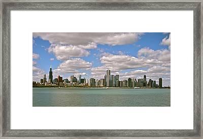 Chicago Skyline Framed Print by Sharin Gabl