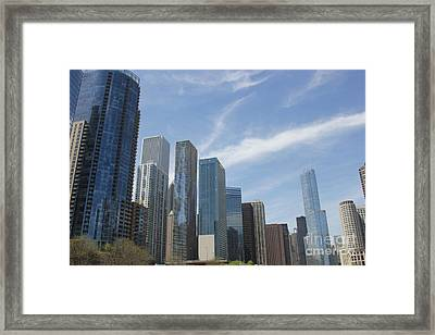 Chicago Skyscrapers Framed Print by The Art of Alice Terrill