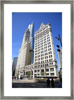 Chicago Skyscrapers Framed Print by Frank Romeo