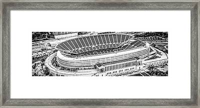 Chicago Soldier Field Aerial Panorama Photo Framed Print by Paul Velgos