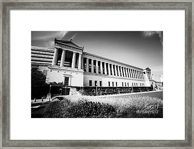 Chicago Solider Field Black And White Picture Framed Print by Paul Velgos