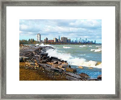 Chicago South Lakefront Framed Print