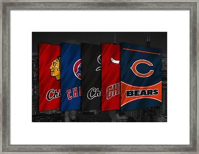 Chicago Sports Teams Framed Print by Joe Hamilton