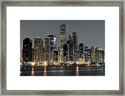 Chicago Standing Tall Framed Print by Frozen in Time Fine Art Photography