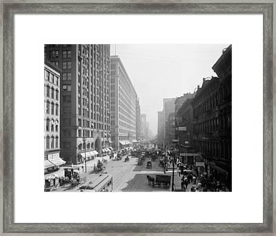 Chicago State Street, C1905 Framed Print