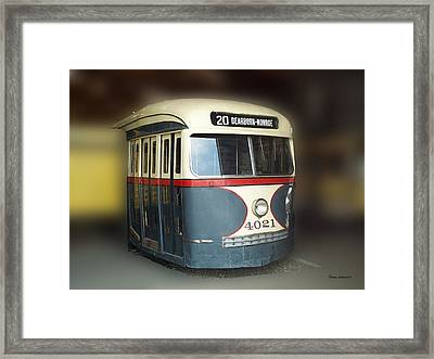 Chicago Street Car 20 Framed Print by Thomas Woolworth