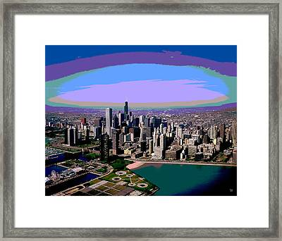 Chicago Sunset Framed Print by Charles Shoup