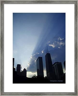 Chicago Sunset Framed Print