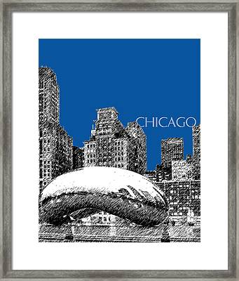 Chicago The Bean - Royal Blue Framed Print