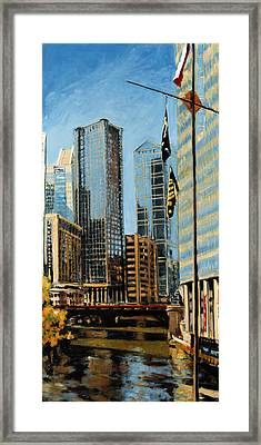 Chicago - The River From The East Framed Print