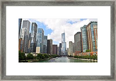 Chicago The Windy City Framed Print by Frozen in Time Fine Art Photography
