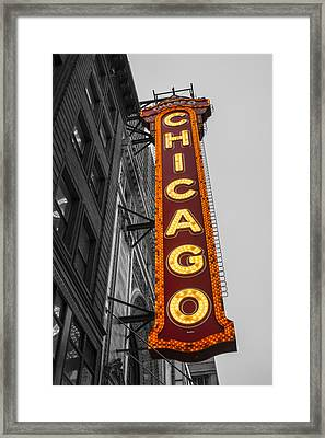 Chicago Theater Selective Color Framed Print