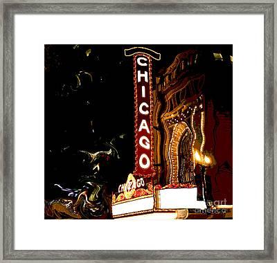 Chicago Theater Sign  Framed Print by Sophie Vigneault