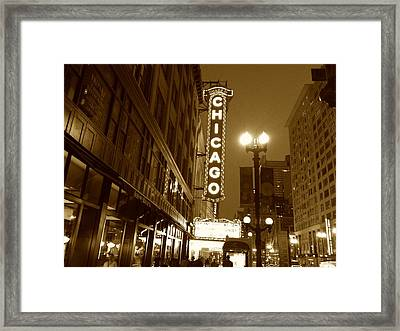Framed Print featuring the photograph Chicago Theatre by Alan Lakin
