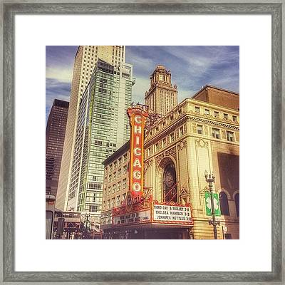 Chicago Theatre #chicago Framed Print