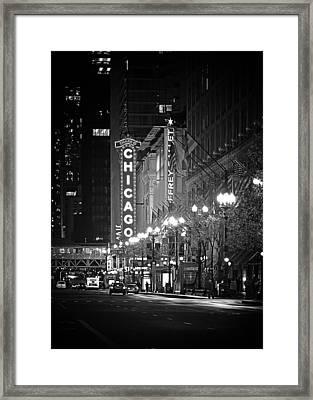 Chicago Theatre - Grandeur And Elegance Framed Print by Christine Till