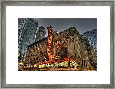 Chicago Theatre Hdr Framed Print