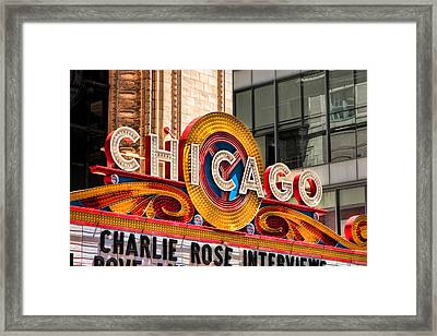Chicago Theatre Marquee Framed Print by Christopher Arndt