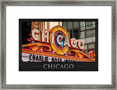 Chicago Theatre Marquee Poster Framed Print by Christopher Arndt