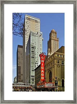 Chicago Theatre - This Theater Exudes Class Framed Print