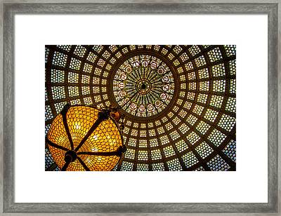 Chicago Tiffany Dome Framed Print